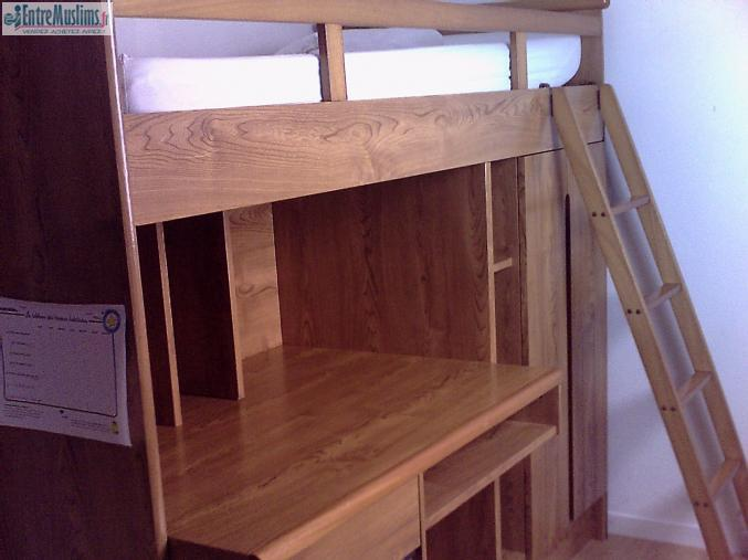 vend lit combin marque gautier urgent. Black Bedroom Furniture Sets. Home Design Ideas