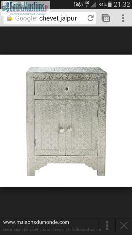 chevet jaipur maison du monde. Black Bedroom Furniture Sets. Home Design Ideas