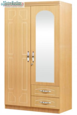 armoire 2 armoire pas cher armoire mobili meubles. Black Bedroom Furniture Sets. Home Design Ideas