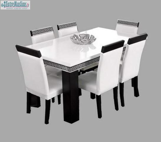 TABLE 4 CHAISES VERSACE TABLE PAS CHER