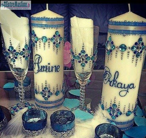 bougie mariage henna henn hennaya nekacha - Bougie Henn Mariage