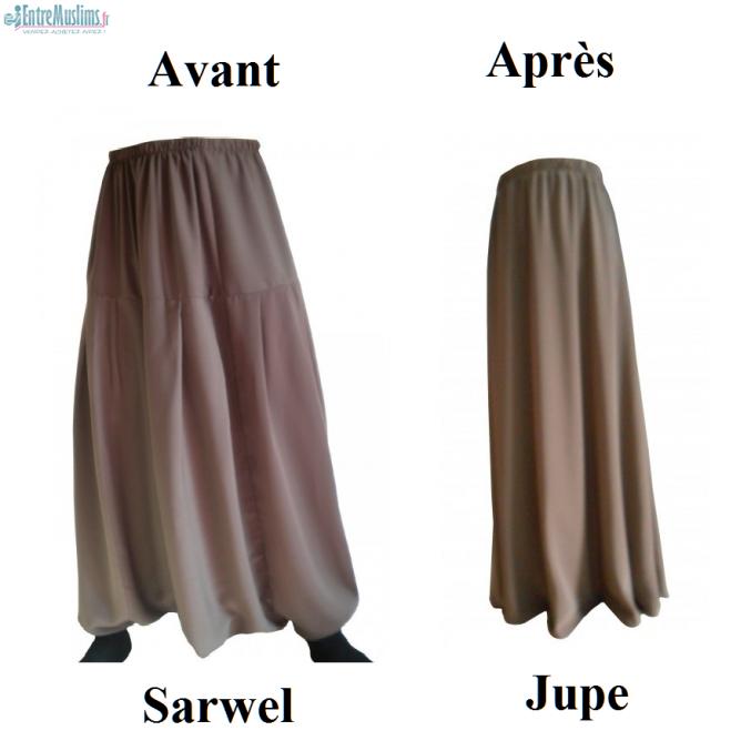 Transforme vos sarouel sarwel en jupe de jilb.