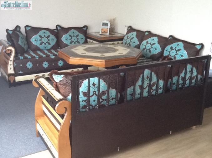 Salon orientale marocain sedari - Salon marocain avec dossier ...