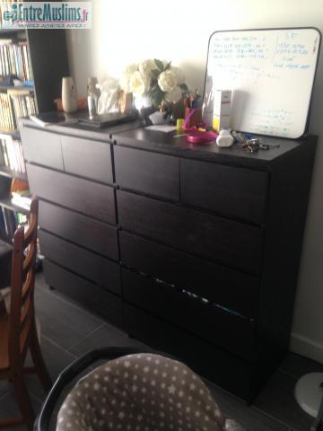 compos malm ikea noires. Black Bedroom Furniture Sets. Home Design Ideas