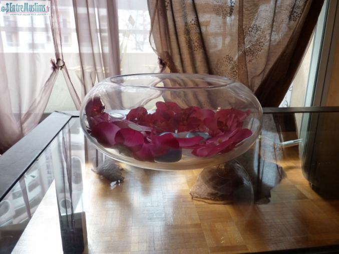 grand vase rond d co mariage orchid e. Black Bedroom Furniture Sets. Home Design Ideas