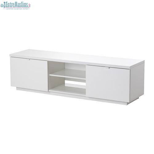 vend meuble tv blanc laqu etat neuf canap d 39 angle gris. Black Bedroom Furniture Sets. Home Design Ideas