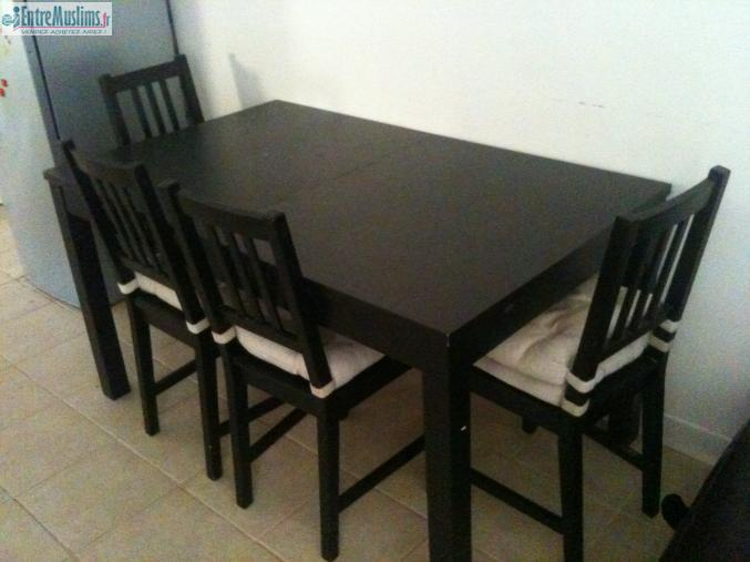table avec rallonge et 4 chaises ikea. Black Bedroom Furniture Sets. Home Design Ideas